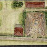 Vista aérea do cemitério
