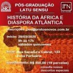 HISTÓRIA DA ÁFRICA E DA DIÁSPORA ATLÂNTICA